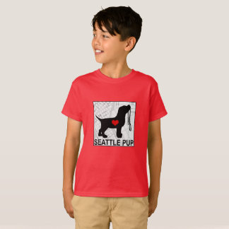 Seattle Pup Kids T-Shirt (Red)