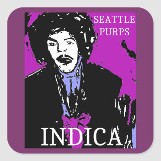 SEATTLE PURPS INDICA SQUARE STICKER