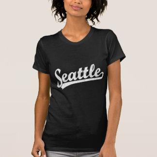 Seattle script logo in white T-Shirt