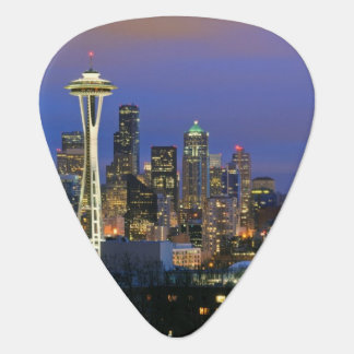 Seattle seen from Kerry Park in Queen Anne Guitar Pick