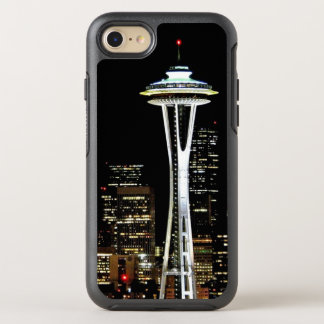 Seattle skyline at night, with Space Needle OtterBox Symmetry iPhone 7 Case