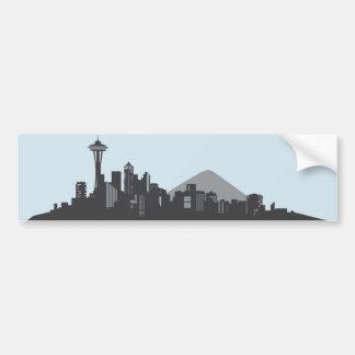 Seattle Skyline Bumper Sticker