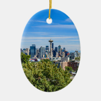Seattle Skyline Ceramic Ornament