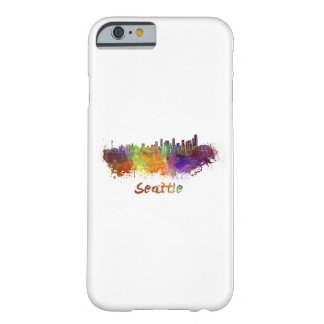 Seattle skyline in watercolor barely there iPhone 6 case