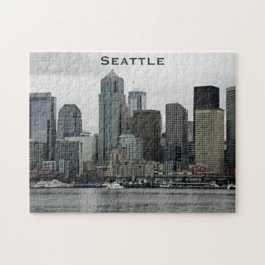 Seattle Skyline Jigsaw Puzzle