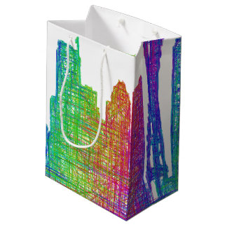Seattle skyline medium gift bag