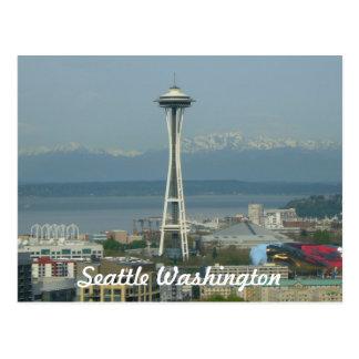 Seattle Skyline Photo Post Card