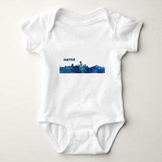Seattle Skyline Silhouette Baby Bodysuit