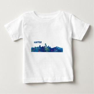 Seattle Skyline Silhouette Baby T-Shirt