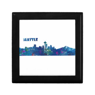 Seattle Skyline Silhouette Gift Box