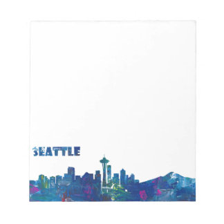 Seattle Skyline Silhouette Notepad