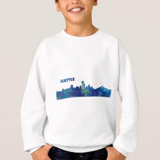 Seattle Skyline Silhouette Sweatshirt
