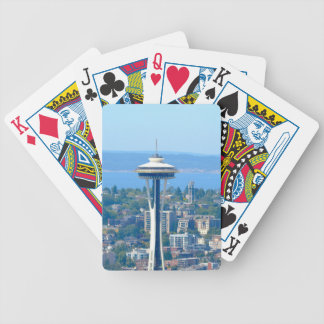 Seattle Skyline Space Needle Bicycle Playing Cards