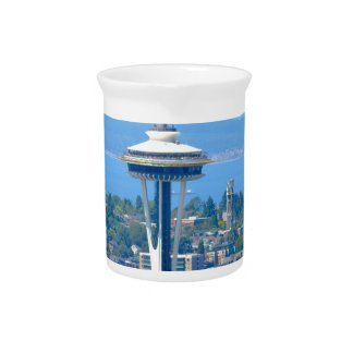 Seattle Skyline Space Needle Pitcher