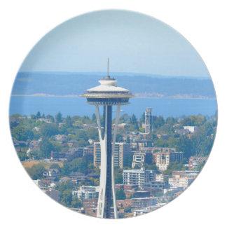 Seattle Skyline Space Needle Plate