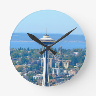 Seattle Skyline Space Needle Round Clock