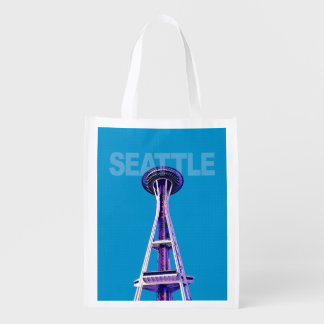 Seattle Space Needle reusable shopping bag