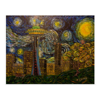 Seattle Starry Night (2015) Postcard