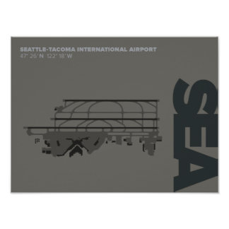 Seattle-Tacoma Airport (SEA) Diagram Poster