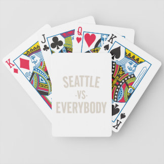 Seattle Vs Everybody Bicycle Playing Cards