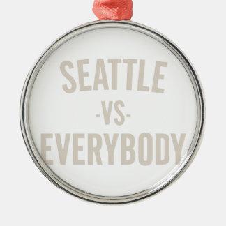 Seattle Vs Everybody Metal Ornament