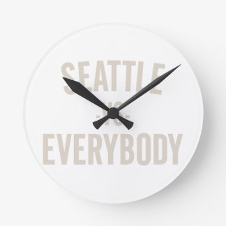Seattle Vs Everybody Round Clock