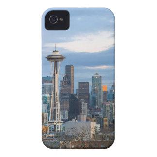 Seattle WA City Skyline evening Panorama iPhone 4 Case-Mate Case