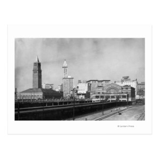 Seattle, WA - Seattle Railway Center and Smith Post Cards
