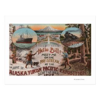 Seattle, WAAD for Alaska Yukon Pacific Expo. Postcard