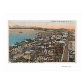 Seattle, WAAerial of Downtown Seattle & Bay Postcard