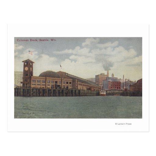Seattle, WAColeman Dock on Seattle Waterfront Postcard