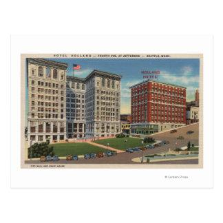 Seattle, WAHotel Holland & Municipal Bldgs Postcard