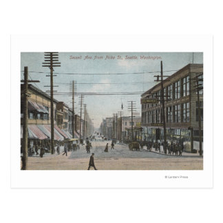 Seattle, WASecond Avenue from Pike Street Postcard
