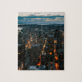 Seattle Washington Aerial View Jigsaw Puzzle