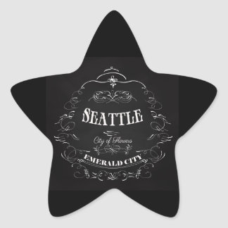 Seattle Washington - City of Flowers Star Sticker