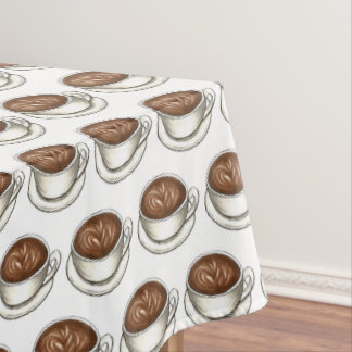 Seattle Washington Coffee Shop Cup Latte Barista Tablecloth