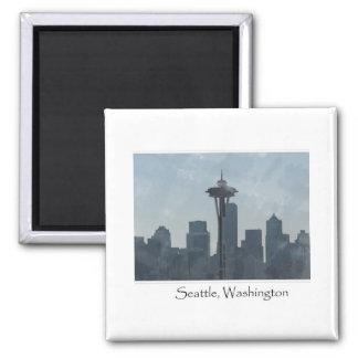 Seattle Washington Downtown Gifts Souvenir Square Magnet