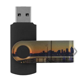 Seattle Washington Downtown Skyline Swivel USB 2.0 Flash Drive