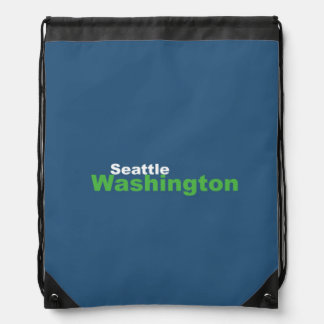 Seattle,Washington Drawstring Backpack