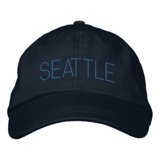 Seattle Washington Personalized Adjustable Hat Embroidered Cap