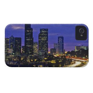 Seattle, Washington skyline at night Case-Mate iPhone 4 Case