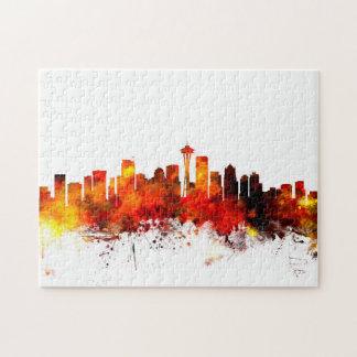Seattle Washington Skyline Jigsaw Puzzle