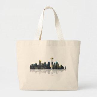 Seattle Washington Skyline Jumbo Tote Bag