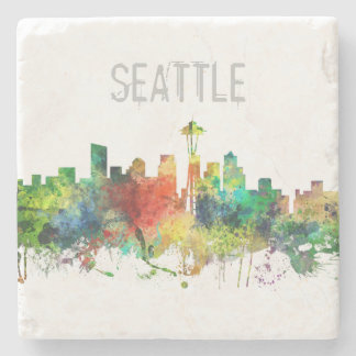 SEATTLE WASHINGTON SKYLINE SP - STONE COASTER