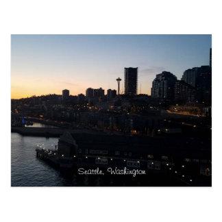 Seattle Washington Space Needle At Night Postcard