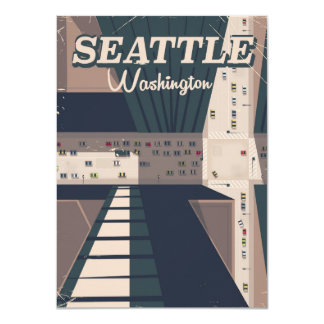 Seattle, Washington state Travel poster Card
