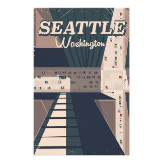 Seattle, Washington state Travel poster Stationery