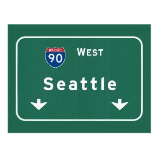 Seattle Washington wa Interstate Highway Freeway : Postcard