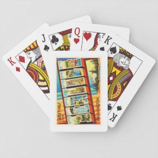 Seattle Washington WA Old Vintage Travel Souvenir Playing Cards