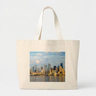 Seattle Waterfront Large Tote Bag